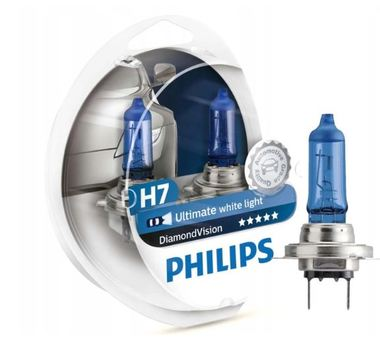 2x H7 PHILIPS DIAMOND VISION ZIMNA BIEL 5000K